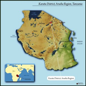 Map of Karatu District, courtesy of Royal Coffee Importers